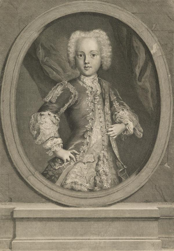 Prince Charles Edward Stuart, 1720 - 1788. Eldest son of Prince James Francis Edward Stuart (1726)