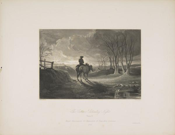 November Chill'. Illustration to 'The Cottar's Saturdays Night' by Robert Burns. Verse II (1853)