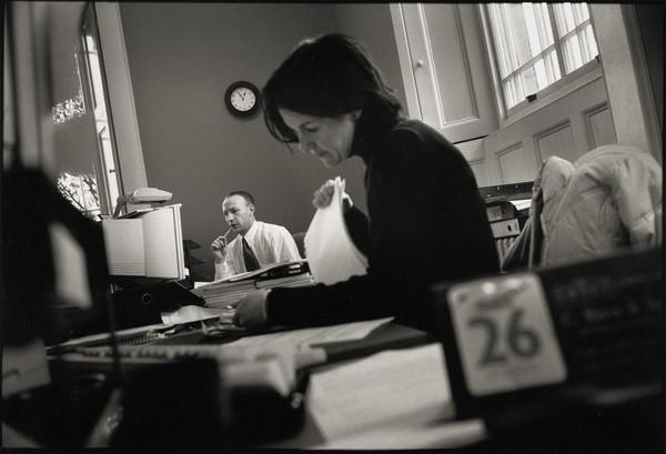 Archie Millar, Accounts Assistant, and Laura Turnbull, Personal Secretary, Finance Department, Dean Gallery, Edinburgh