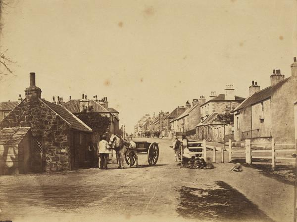 Unknown street with horses and carts