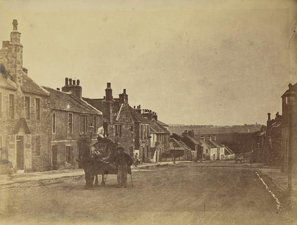 Unknown street with horse and cart