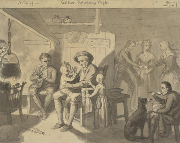 Illustration to 'The Cottar's Saturday Night' (About 1790)
