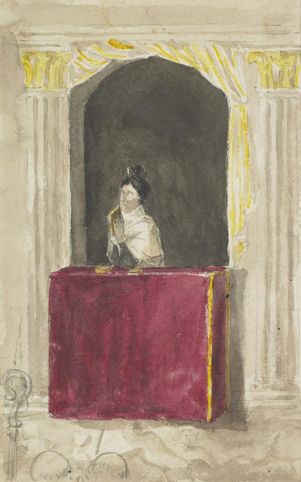 Grand Duchess Dowager in the Chapel of Pitti Palace (Dated Nov. 1832)