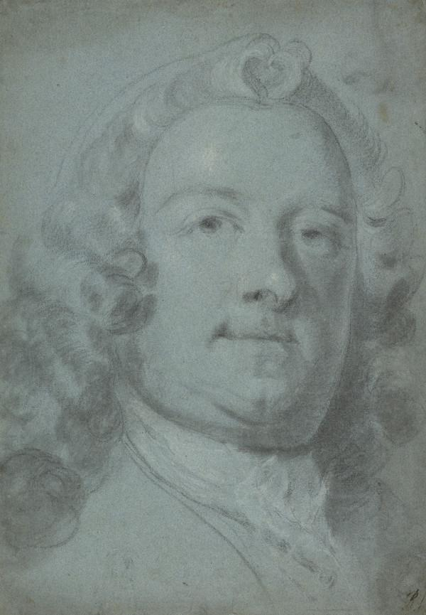 Study for the Portrait of Admiral Thomas Smith, d. 1792. Commander-in-chief of ships in Scotland 1746 (About 1744)