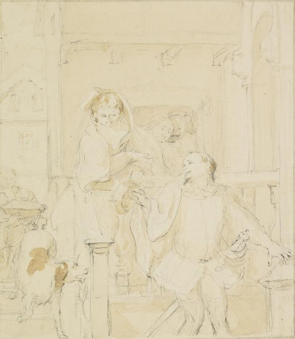 Compositional Study for the Painting 'Anne Page and Slender' (About 1860)