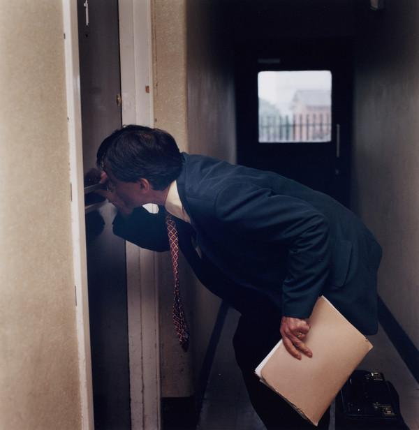 Untitled (Doctor Peering in a Letterbox)