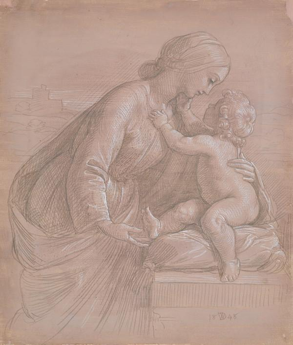 Madonna and Child (Dated 1848)