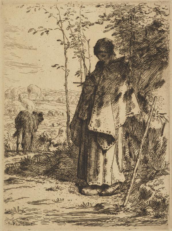 La Grande Bergere (Shepherdess Knitting)