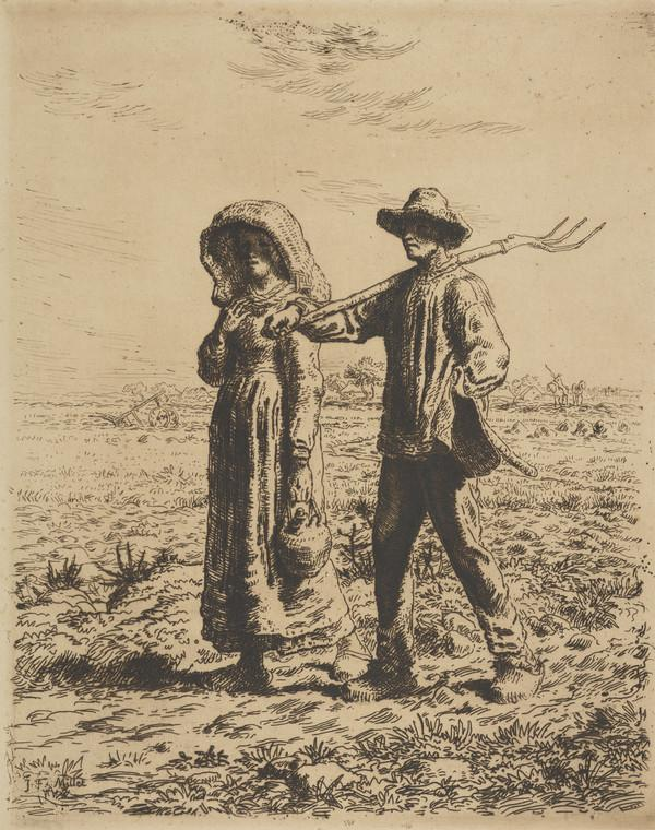 Depart pour le Travail [Going to work] (1863)