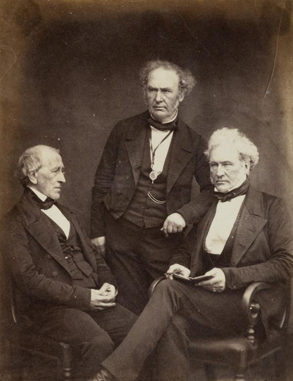 Dr Smith [left], Dr Saunders [centre], and unidentified man