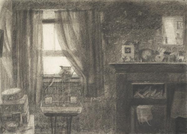 Interior with Birdcage, Monk's Cottage (1986)