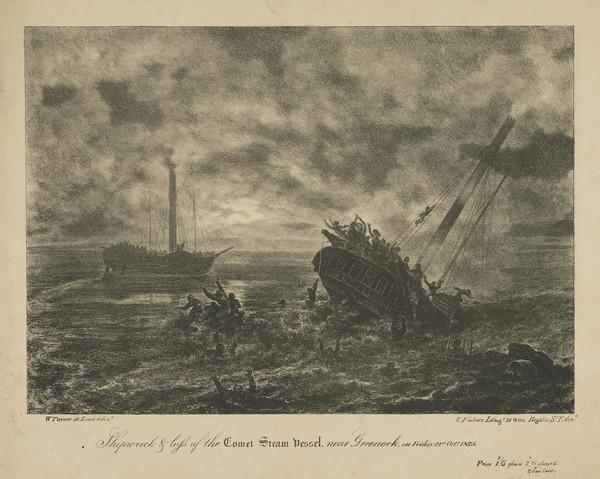 Shipwreck of the Comet Steam Vessel