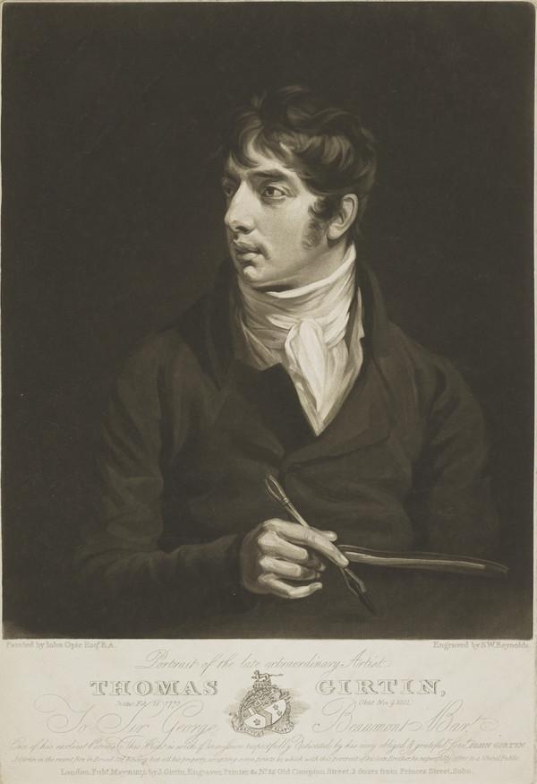 Portrait of the Late Extraordinary Artist, Thomas Girtin, 1775 - 1802 (1817)