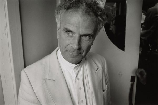 Sir Peter Maxwell Davies, 1934 - 2016. Composer. (Outside the Phoenix Cinema, Kirkwall, before conducting, St Magnus Festival, Orkney) (1994, 19 June)