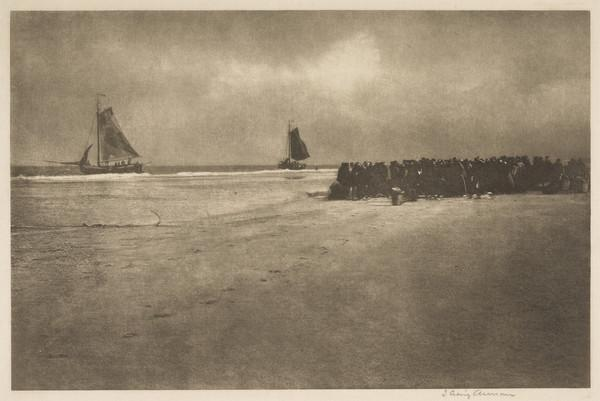 On a Dutch Shore (also known as A Fish Auction, Zandvoort) (1892)