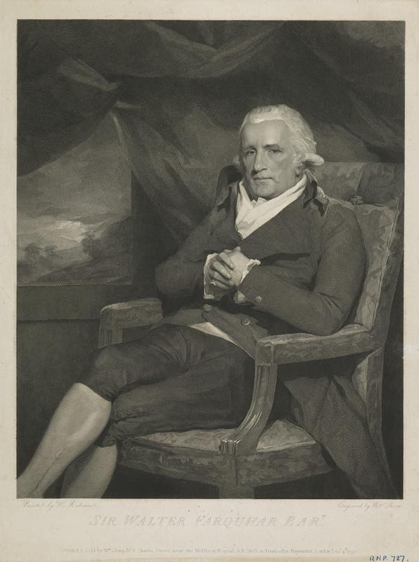 Sir Walter Farquhar, 1738 - 1819. Physician (Published 1797)