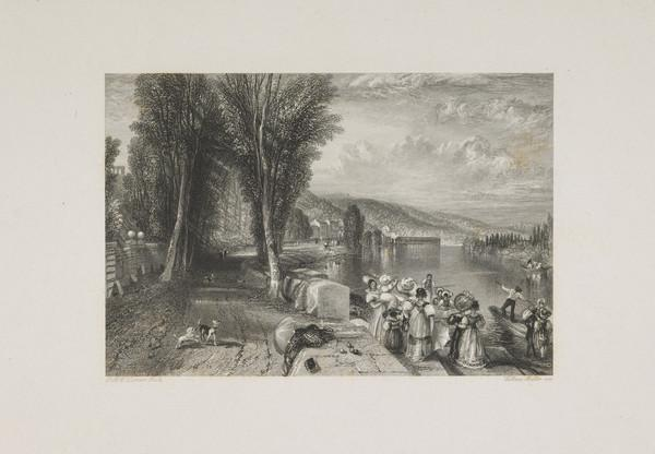 Marly - Illustration for 'The Keepsake', 1828 - 1837 (Rawlinson no. 327 Engraver's Proof) (1831)