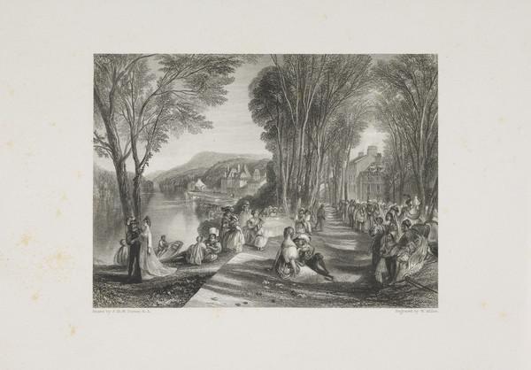 Palace of La Belle Gabrielle - Illustration for 'The Keepsake', 1828 - 1837 (Rawlinson no. 331 I) (1834)