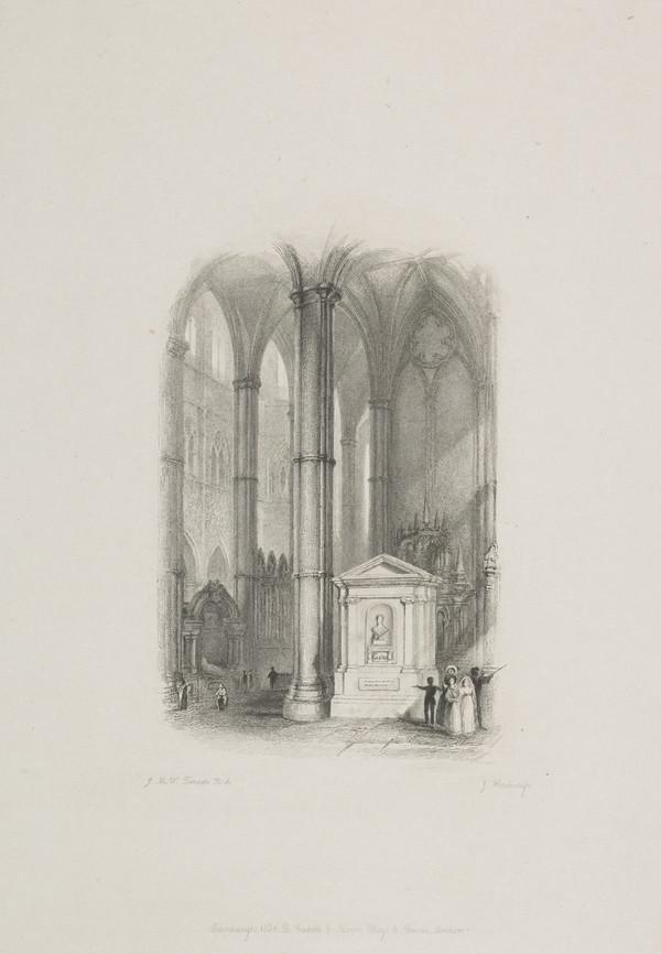 Dryden's Monument - Vignette Illustration for the 'Life of Dryden', from 'Scott's Prose Works', 1834 - 1836 (Rawlinson no. 517 I) (1834)
