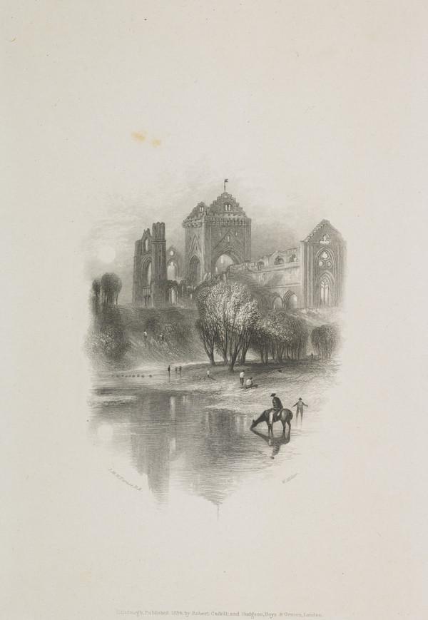New Abbey near Dumfries ('Prose Works', Vol. VII) - Vignette Illustration for 'Scott's Prose Works', 1834 - 1836 (Rawlinson no. 521 I) (1834)