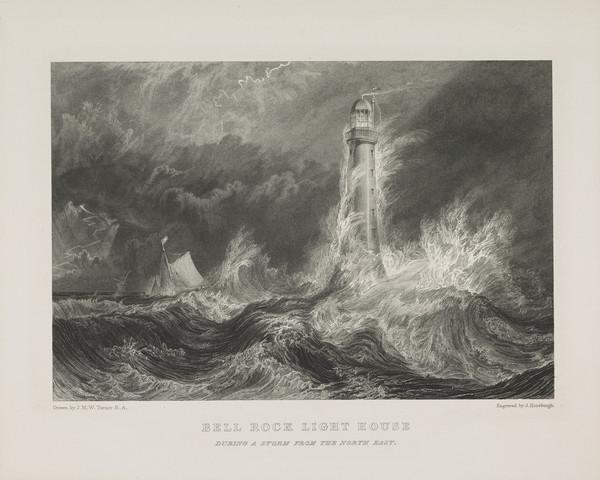 The Bell Rock Lighthouse - Frontispiece to Robert Stevenson's 'Account of the Bell Rock Lighthouse', Edinburgh (Rawlinson no. 201 I) (1824)