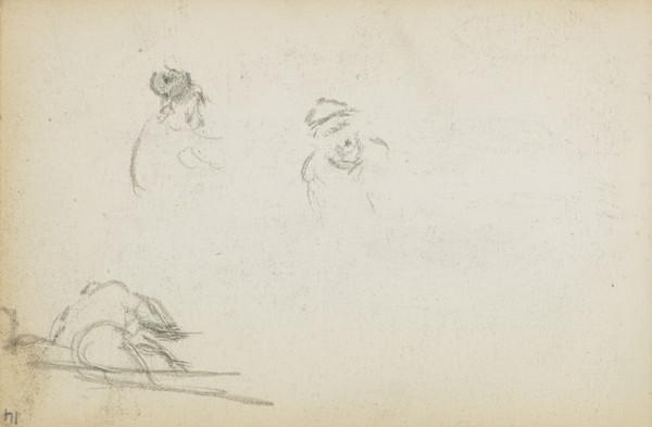 Several sketches of figures (About 1883)