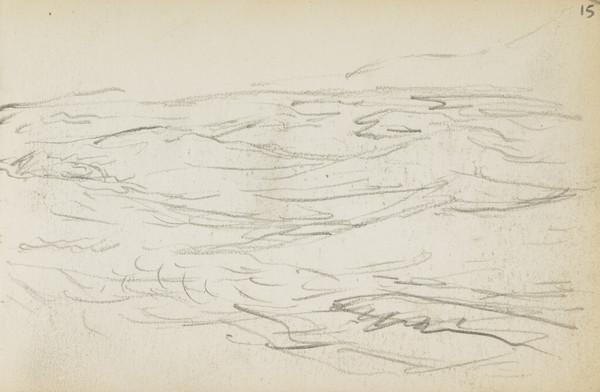 Sketch of the sea (About 1883)