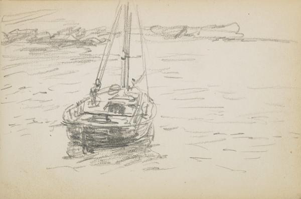 Sketch of boat (About 1883)