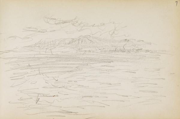 Sketch of sea (About 1883)