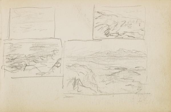 Several sketches of sea and rocks (About 1883)