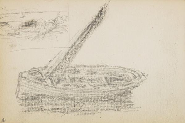 Sketches of a boat and of the sea (About 1883)