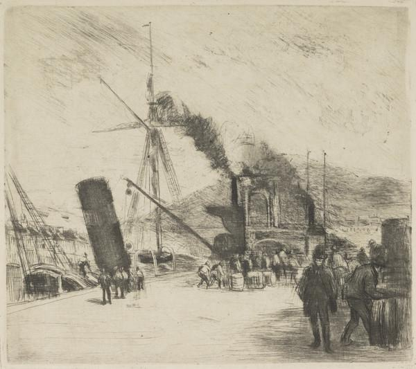 Port de Rouen, avec Bateau à Vapeur