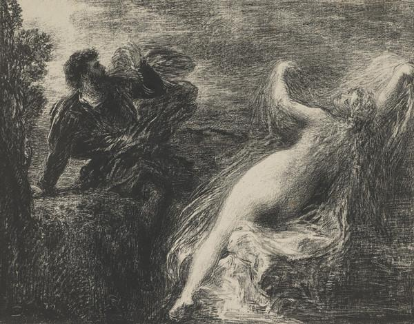 Scene from an Opera? A man and a nude woman