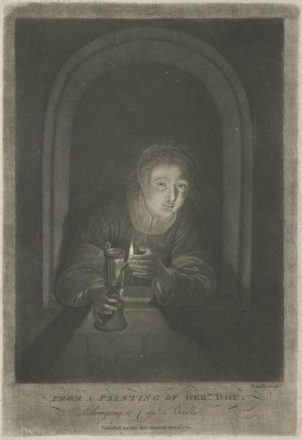 Girl with a lamp (1771)