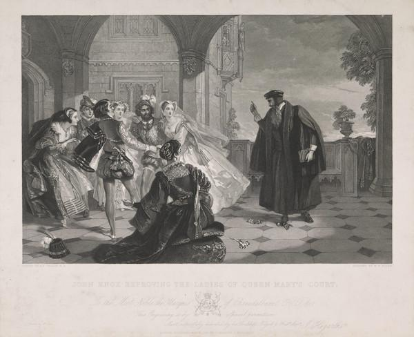 John Knox Reproving the Ladies of Queen Mary's Court (1851)