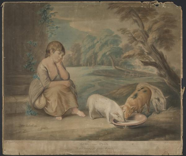 Girl and Pigs (1798)