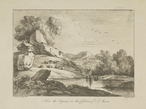 One of eleven prints after landscape drawings (XLIV)