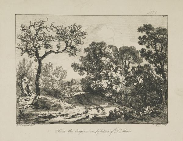One of eleven prints after landscape drawings (XIV)