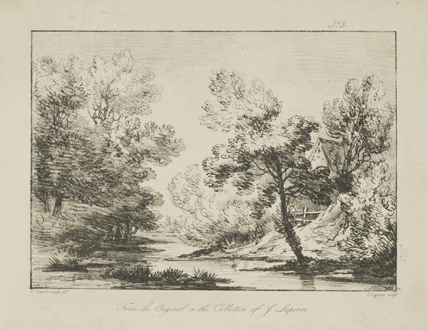One of eleven prints after landscape drawings (VIII)