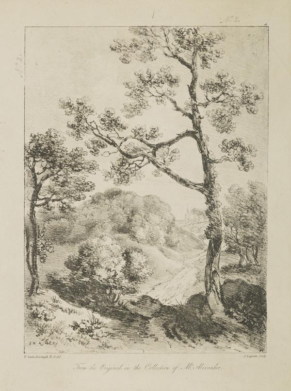One of eleven prints after landscape drawings (IV)