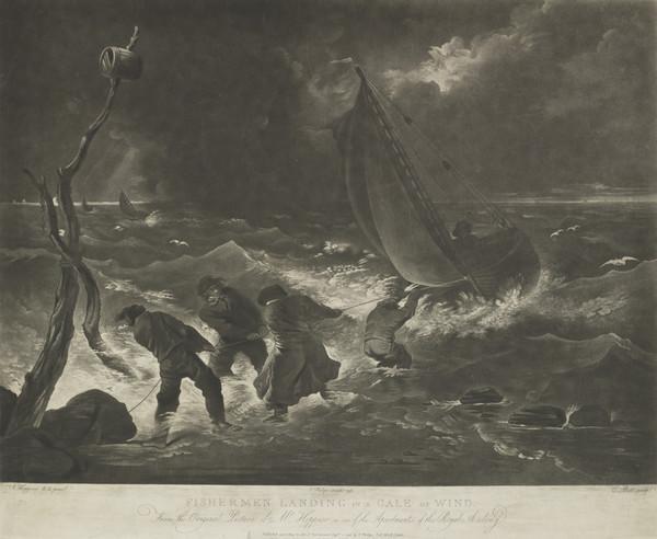 Fishermen Landing in a Gale of Wind (1796)