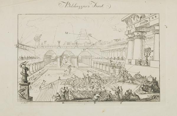 Key to Belshazzar's Feast (1821)