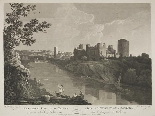 Pembroke Town and Castle (one of two impressions) (1775)