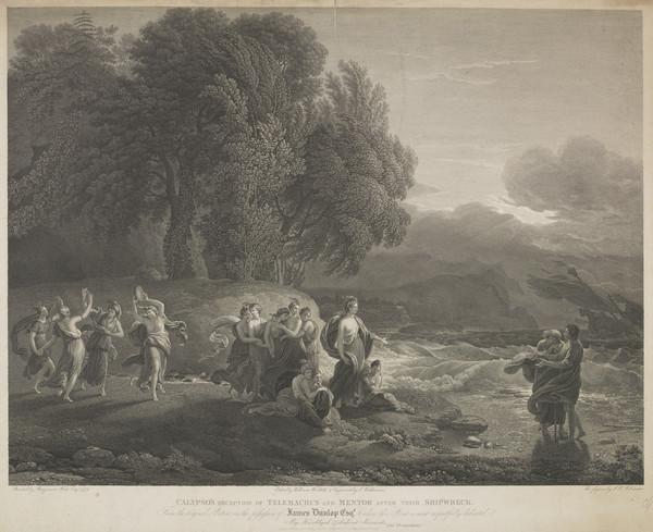 Calypso's Reception of Telmachus and Mentor after their Shipwreck (1824)
