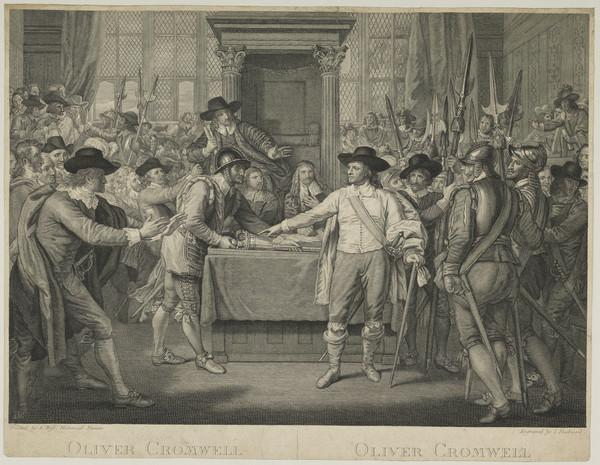Oliver Cromwell Dissolving the Long Parliament (reduced copy)