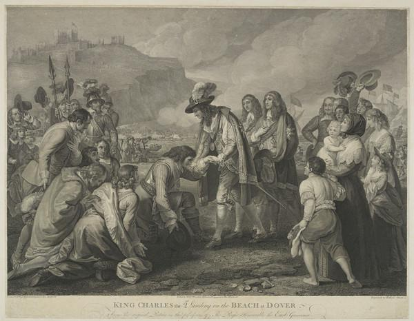 King Charles II Landing on the Beach at Dover