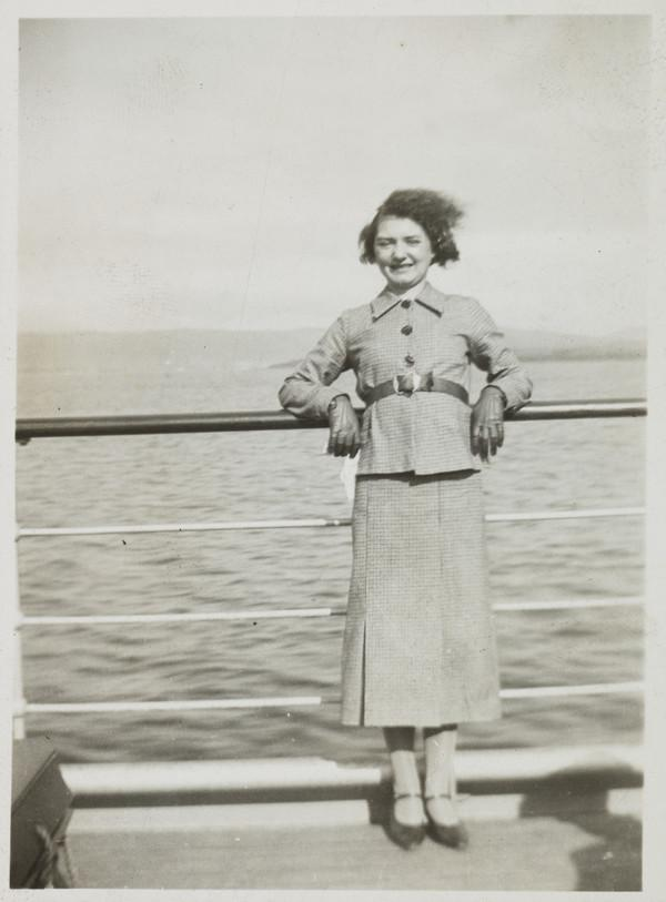 Unknown Woman on a Boat