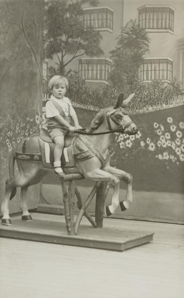 Unknown Child on Rocking Horse