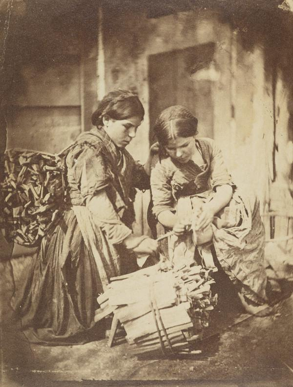 Two girls Binding Wood (About 1850)