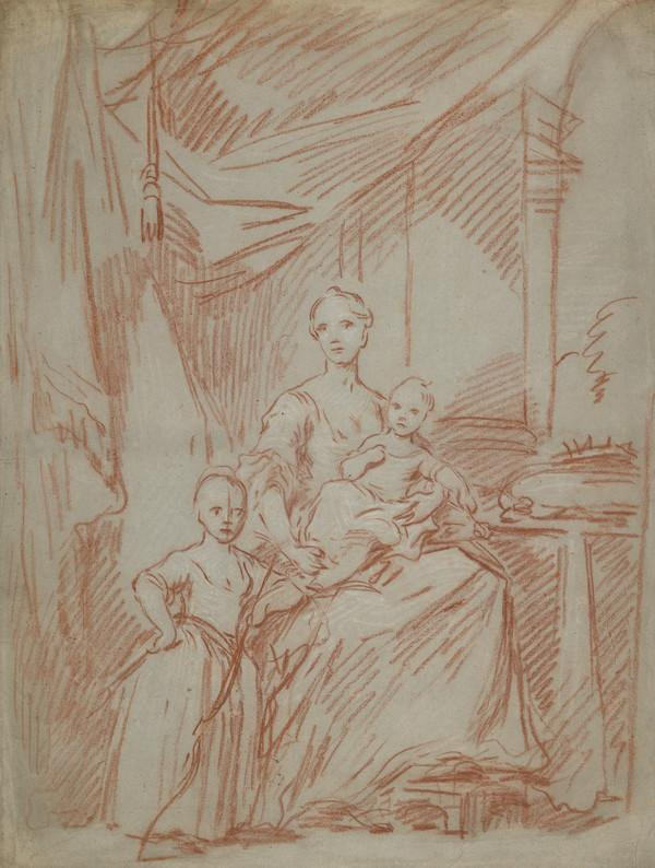 Study for the Painting of Queen Charlotte and her Children (Estimated earliest year: 1728)